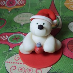6+Polar+Bear+Cupcake+Toppers+for+Christmas+by+SweetTouchDecor,+$15.00