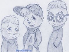 The Chipmunks by DeadlyNova.deviantart.com on @deviantART