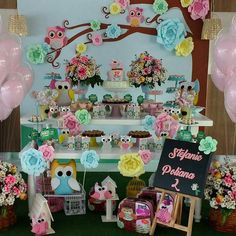 Geschenk Ideen – decoracao-festa-infantil decoracao-festa-infantil Source by headnet Birthday Party At Home, Birthday Diy, Girl Birthday, Owl Party Decorations, Harry Potter Party Decorations, Owl Themed Parties, Owl Parties, Owl 1st Birthdays, Party Kulissen