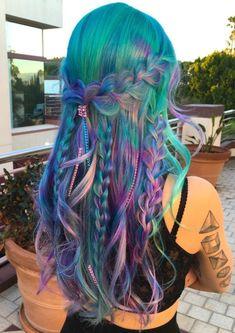 Green Hair, Purple Hair, Ombre Hair, Violet Hair, Burgundy Hair, Turquoise Hair Color, Pretty Hair Color, Vivid Hair Color, Vibrant Hair Colors