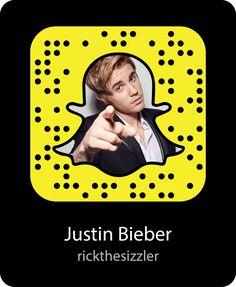 #Follow @justinbieber @ #Snapchat! User: #RickTheSizzler. @defjam @islandrecords #Actor #DefJam #HelpChangeTheWorld #IslandRecords #JustinBieber #JustinDrewBieber #Musician #Snapcode www.justinbiebermusic.com Snapchat Codes, Snapchat Account, Famous People Snapchat, Kim Kardashian Kylie Jenner, Island Records, Chris Pratt, Jared Leto, Demi Lovato, Change The World