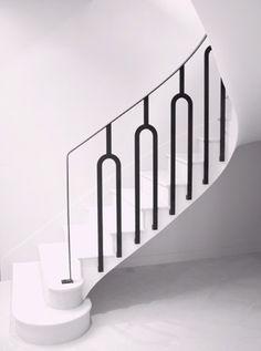 Home Interior Design Bannister.Home Interior Design Bannister Iron Stair Railing, Stair Handrail, Staircase Railings, Bannister, Stairways, Interior Staircase, Modern Staircase, Interior Architecture, Interior Design