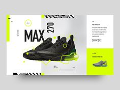 Nike Air Max 270 concept by Cornel de Vroed on Dribbble Website Design Inspiration, Best Website Design, Website Design Layout, Design Blog, Web Layout, Graphic Design Inspiration, Website Designs, Website Ideas, App Design