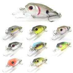wLure 2 1/4inch 1/5oz Crankbait Fishing Lures Floating Jerkbait Tank Tested C548