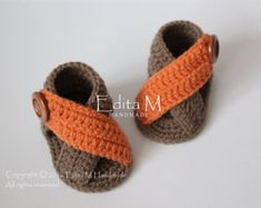Items similar to Crochet baby sandals baby gladiator sandals unisex baby booties shoes baby boy summer shoes apricot gift idea months on Etsy Booties Crochet, Crochet Baby Sandals, Crochet Shoes, Crochet Slippers, Baby Gladiator Sandals, Bootie Sandals, Shoes Sandals, Baby Converse, Crochet Baby Blanket Beginner