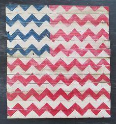 {DIY} Chevron American Flag!