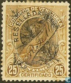 Stamps - Venezuela - Simon Bolivar, with imprint 1900