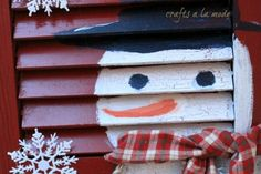 Do you have any old shutters hanging around? I do. I kinda collect them from the side of the road when I find them. I spray painted this old shutter red. Then I…