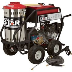 FREE SHIPPING — NorthStar Gas Powered Wet Steam & Hot Water Pressure Washer with Honda Engine — 3000 PSI, 4 GPM does what cold water pressure washers can't — blast through the dirtiest, greasiest projects more quickly and easily — great for professionals and serious do-it-yourselfers demanding premium cleaning performance.