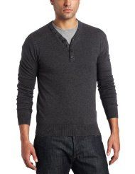 French Connection Men's V-Neck Henley Sweater