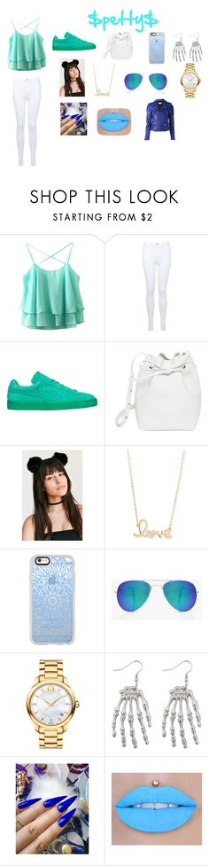 """""""$petty$"""" by dyana-bolton ❤ liked on Polyvore featuring Miss Selfridge, Puma, Mansur Gavriel, Sydney Evan, Casetify, Boohoo, Movado and Yves Saint Laurent"""