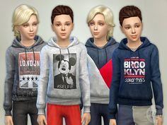 Hoodie for Boys P05  Found in TSR Category 'Sims 4 Male Child Everyday'
