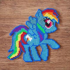 MLP Rainbow Dash perler beads by verylittlethingcreations