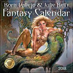 Boris Vallejo & Julie Bell's Fantasy Wall Calendar 2018  Fantasy Art  Height: 12.00 in. Width: 6.00 in.  Manufactured by: Workman Publishing  Seller SKU: 201800005186  Boris Vallejo and Julie Bell's Fantasy Wall Calendar