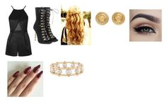 """""""Meet & Greet in Los Angeles, California"""" by vahnieseburrell on Polyvore featuring Topshop, Balmain, Versace and Lele Sadoughi"""