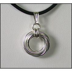 Large Vortex Chain Maille Pendant in by DianeMillerDesigns on Etsy, $58.00
