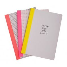 A4 ESSENTIAL NOTEBOOK 3PK: FOLLOW YOUR PATH - Follow Your Path - Collections - Stationery