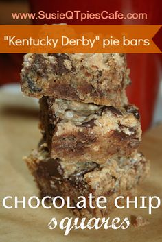 Kentucky Derby Pie Bars - SusieQTpies Cafe