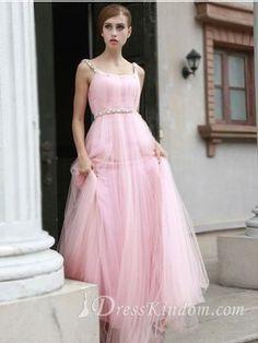 Elegant A-line Organza Square Floor-length Beaded Prom Dress / Evening / Homecoming Dress [10103450] - US$124.99 : DressKindom