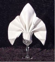 fleurdelysnapkinfold napkin folding