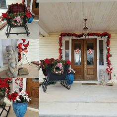 Front porch at Southard House, ready for Christmas guests! #Christmas #holidaytravel #bedandbreakfast #enidok
