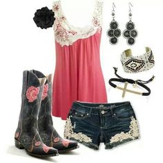 Summer sexy cowgirl outfit