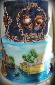 Hand painted cake! Venetia!