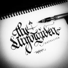 Gothic Calligraphy&Lettering on Typography Served