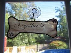 Doggy Bone Stained glass Suncatcher by LuciasGiftEmporium on Etsy, $6.99