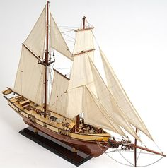 "CaptJimsCargo - Harvey 1847 Baltimore Clipper Wood Model Tall Ship 35"" Sailboat Boat, (http://www.captjimscargo.com/model-tall-ships/clipper-ships/harvey-1847-baltimore-clipper-wood-model-tall-ship-35-sailboat-boat/) The ideal Privateer of the 1800s."