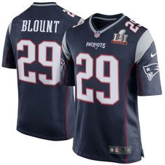 LeGarrette Blount New England Patriots Nike Youth Super Bowl LI Bound Game Jersey - Navy
