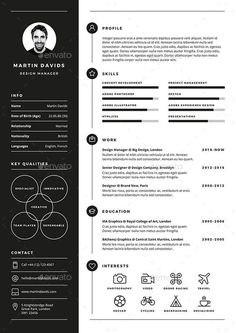 CV / Resume CV / Resume is a clean, elegant and professional resume template. - Career MindMap - CV/Resume CV/Resume is a clean elegant and professional resume template desig CV / Resume CV Creative Cv Template, Modern Resume Template, Resume Design Template, Free Cv Template, Professional Resume Template, One Page Resume Template, Professional Resume Examples, Cv Examples, List Template
