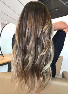 lange Haarmodelle – Haarfarben Ideen und Trends für die lange Frisur Winter long hair models – hair colors ideas and trends for the long hairstyle winter Hair Color 2018, Ombre Hair Color, Hair Color Balayage, Brown Hair Colors, Balayage Highlights, Balayage Long Hair, Brunette Highlights, Hair Colour, Hair Blond