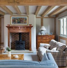 Terrific Pics curved Brick Fireplace Concepts Farmhouse – Border Oak – oak framed houses, oak framed garages and structures. Wood Fireplace Mantel, Inglenook Fireplace, Farmhouse Fireplace, Fireplace Surrounds, Fireplace Ideas, Rustic Farmhouse, Cottage Fireplace, Log Burner Fireplace, Fireplace Pictures