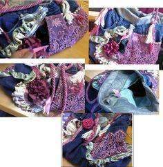 Jean recycled handbag I made