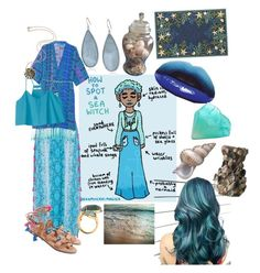 """""""Sea Witch"""" by dumb-ass-cactus on Polyvore featuring beauty, Kenneth Cole, Alexis Bittar, Couristan, Matthew Williamson, TIBI and Rosita Bonita"""