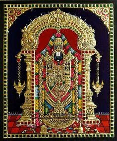 Perumal Glass Painting Designs, Paint Designs, Pooja Room Door Design, Tanjore Painting, Outline Drawings, Traditional Paintings, Indian Paintings, Mural Art, Indian Art