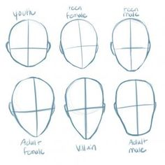 How to Draw Manga Heads, Step by Step, Anime Heads, Anime, Draw Japanese Anime, Draw Manga, FREE Online Drawing Tutorial, Added by PuzzlePieces, March 4, 2013, 8:27:32 am