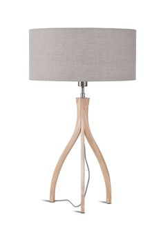 The Montreal Table Lamp is a stunning tripod lamp from It's About RoMi. A combination of masterfully crafted wood and smooth fabric; minimalist perfection!