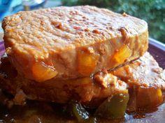 Spicy And Tender Crock Pot Pork Chops Recipe - Genius Kitchen Best Baked Pork Chops, Best Pork Chop Recipe, Glazed Pork Chops, Pork Chop Recipes, Spicy Recipes, Baking Recipes, Yummy Recipes, Pork Chop Dinner, Fried Pork