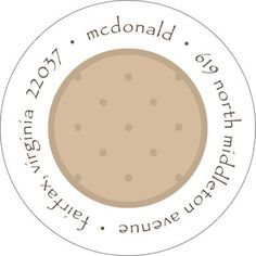 Dots and More Dots Round Address Labels