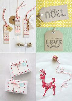 xmas tags (love the articulated deer)