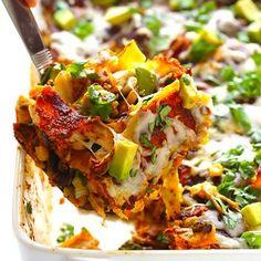 """Chicken Enchilada Casserole (a.k.a. """"Stacked"""" Chicken Enchiladas) Recipe"""