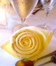 Flower napkin...never know when you may need to bust out some napkin folding skills!