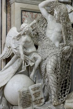 """life-imitates-art-far-more: """"Francesco Queirolo """"Il Disinganno"""" or """"The Release from Deception"""" Marble Rococo Located in the Cappella Sansevero, Naples, Italy The open pages of. Michelangelo, Sculpture Metal, Stone Sculptures, Les Oeuvres, Fine Art, Artwork, Painting, Daily Funny, Fun Funny"""