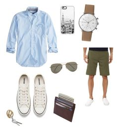 """hang out 💁🏼"" by believesce on Polyvore featuring American Eagle Outfitters, Hurley, Converse, Junghans, Casetify, SELECTED, men's fashion and menswear"