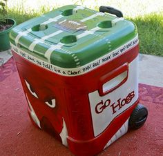 A how to to paint coolers without the chipping! Joanna this is for you! Arkansas Razorbacks