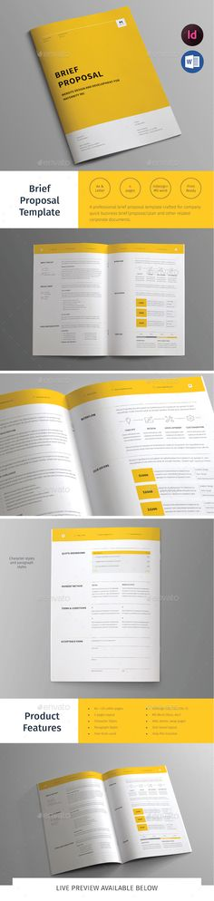 Brief Proposal Template InDesign INDD. Download here: http://graphicriver.net/item/brief-proposal-template/14937353?ref=ksioks