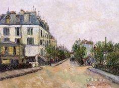 Maurice Utrillo Three Streets In Montmagny (val-d'oise) oil painting reproductions for sale