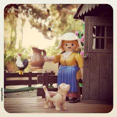 The Milkmaid de Johannes Vermeer versión #playmobil #playmotito